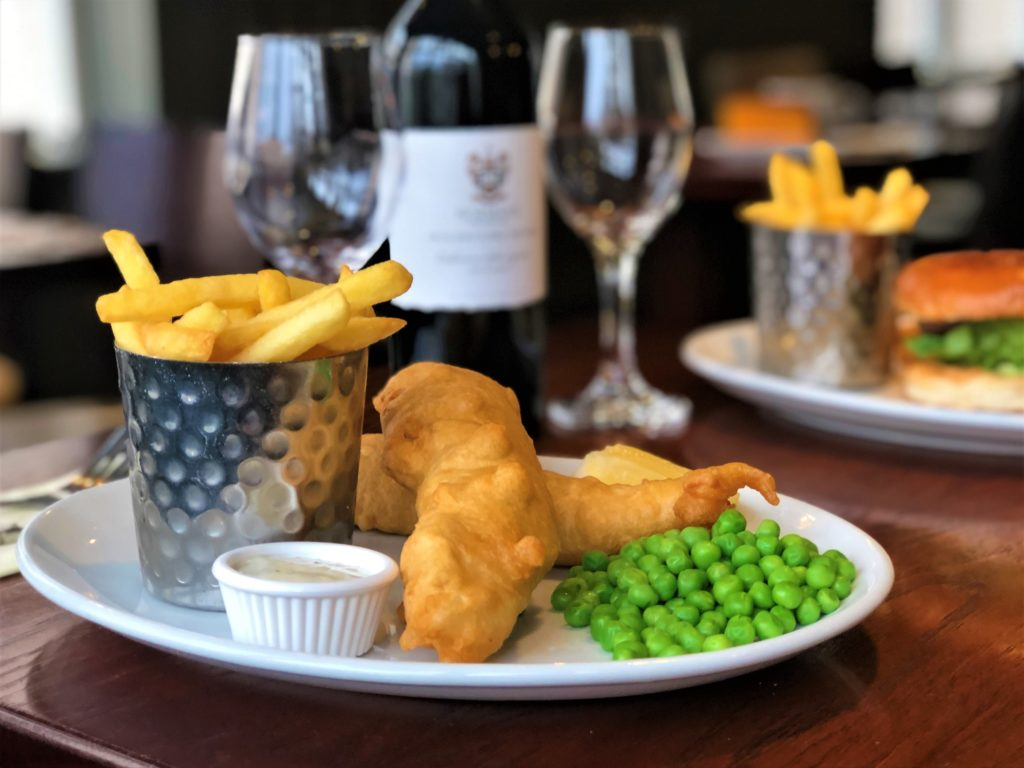 fish and chips at Smiths Bar Ayr