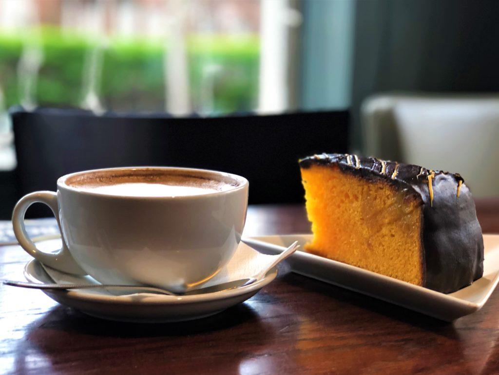 barista coffee and cake at Smiths Bar Ayr