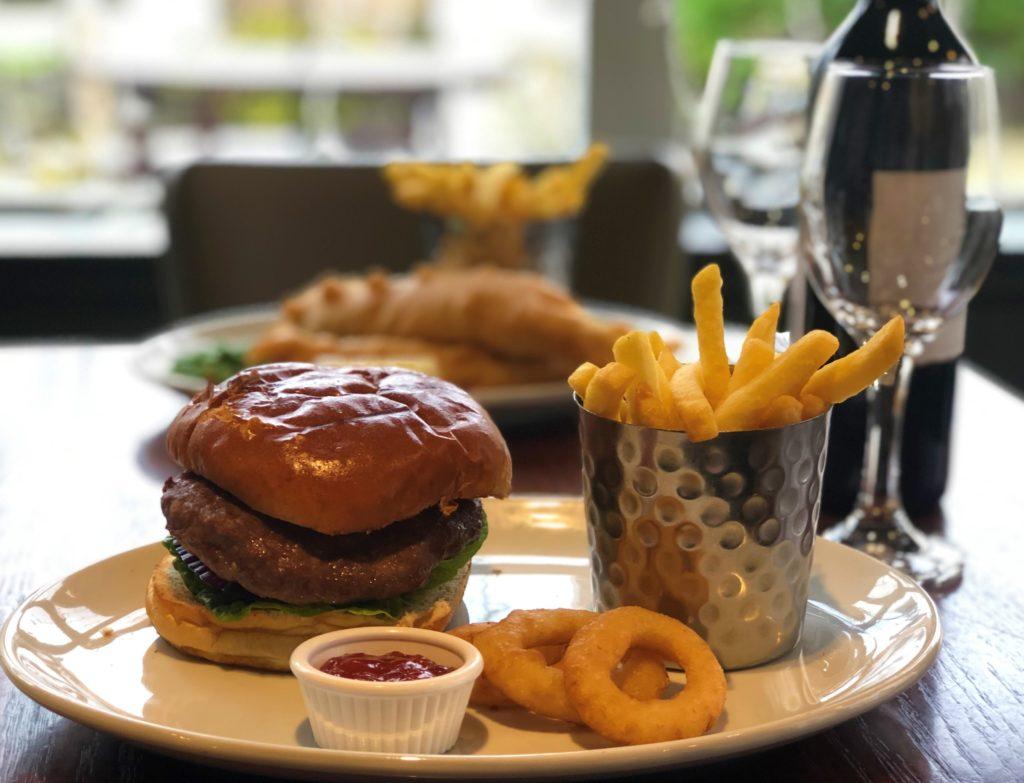 burger and chips at Smiths Bar Ayr